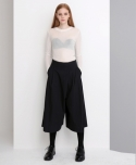 WIDE LAP PANTS (BLACK)