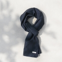 Herringbone Navy_Basic Scarf