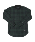 15 F/W KNIT NECK SHIRTS CHECK GREEN