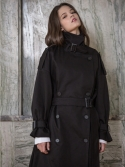 라티젠(LARTIGENT) LP OVER TRENCH COAT_BK