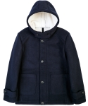 루블랑(LOUPS BLANCS) Bonded Wool Hooded Coat