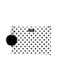 에리쏜(HERISSON) MILANI DOT  CLUTCH WHITE