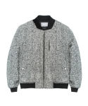 지플리시(ZPLISH) WOOL STADIUM JACKET(WH)