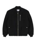 지플리시(ZPLISH) WOOL STADIUM JACKET(BK)
