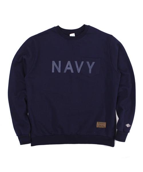어커버_Poket crewneck Navy