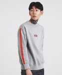 TAPED SLEEVE SWEATSHIRT GRAY