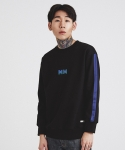 TAPED SLEEVE SWEATSHIRT BLACK