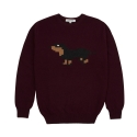 삭스어필(SOCKS APPEAL) lambswool sweater* dachshund