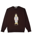 콰이트(QUITE) [콰이트] Q Bear Sweatshirt (Burgundy)
