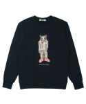 콰이트(QUITE) [콰이트] Q Bear Sweatshirt (Navy)