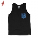 알타몬트(Altamont) [Altamont] PEACOCK POCKET LIMITED TANK TOP (Black)