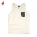 알타몬트(Altamont) [Altamont] PEACOCK POCKET LIMITED TANK TOP (Bone)