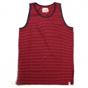 알타몬트(Altamont) [Altamont] CULVER YARN-DYE STRIPE TANK TOP (Red)