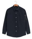 Military MA-1 overfit shirts deep blue