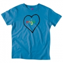 엔조이(ENJOI) [enjoi] SPECTRUM HEART PREMIUM SLIM FIT S/S WOMENS (Teal)
