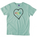 엔조이(ENJOI) [enjoi] SPECTRUM HEART PREMIUM SLIM FIT S/S WOMENS (Sea Foam)