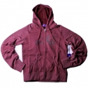 엔조이(ENJOI) [enjoi] WOMENS CAMPFLOWER CUSTOM ZIP HOOD (Cranberry)