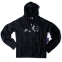 엔조이(ENJOI) [enjoi] WOMENS CAMPFLOWER CUSTOM ZIP HOOD (Black)