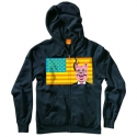 엔조이(ENJOI) [enjoi] CORPORATE AMERICA ZIP HOOD (Navy)