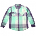 엔조이(ENJOI) [enjoi] MANBLOUSE SLIM FIT WOVEN PLAID (Key Lime)