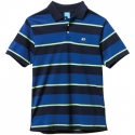 엔조이(ENJOI) [enjoi] STROLE STRIPED REGULAR FIT POLO S/S (Blue)