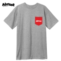 올모스트(ALMOST) [Almost] POCKET PRINT S/S (GREY/HEATHER)
