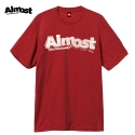 올모스트(ALMOST) [Almost] STAMPED LOGO S/S (RED/HEATHER)