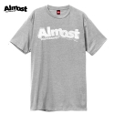 올모스트(ALMOST) [Almost] STAMPED LOGO S/S (HEATHER GREY)