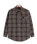 washed brown check shirts