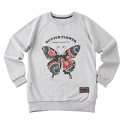 어썸 이미지네이션(AWESOME IMAGINATION) BUTTER FLOWER SWEAT SHIRTS _ GRAY