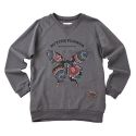어썸 이미지네이션(AWESOME IMAGINATION) BUTTER FLOWER SWEAT SHIRTS _ CHARCOAL