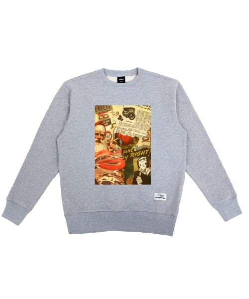 더 캔버스_Vintage Patch Sweatshirts(Gray)