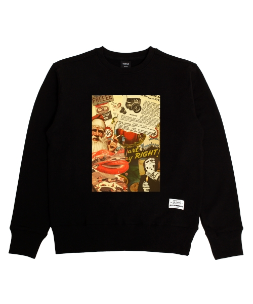 더 캔버스_Vintage Patch Sweatshirts(Black)