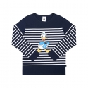 화이트블랭크레이블(WHITE BLANK LABEL) [15FW_WB] MICKEY STRIPE  LONG SLEEVE TS (NAVY)