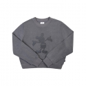 화이트블랭크레이블(WHITE BLANK LABEL) [15FW_WB] MONO MICKEY CROPTOP (PIGMENT DARK GREY)