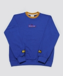 시그냅(SIGNAP) RE-CHILD EMBROIDERY SWEAT SHIRT CARAMEL BLUE