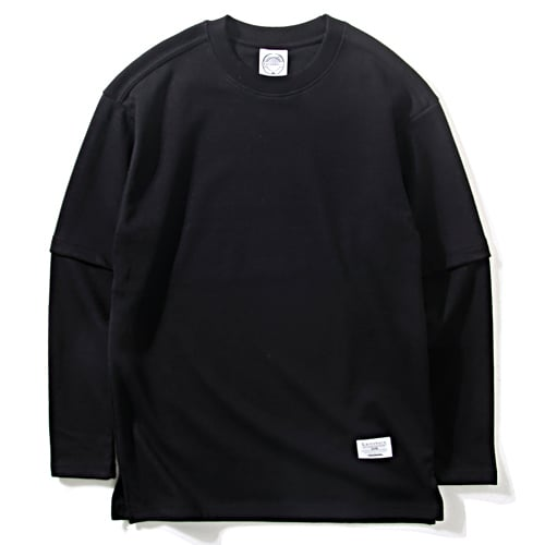 게인스보로_FAKE LAYERED T_BLACK