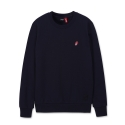 브라바도(BRAVADO) [Bravado] THE ROLLING STONES UK TONGUE EMB CREWNECK NAVY