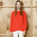 와드로브(WARDROBE) BASIC CABLE KNIT_RED