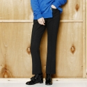 와드로브(WARDROBE) SLIM BELL BOTTOM PANTS_BLACK
