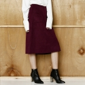 와드로브(WARDROBE) SUEDE A-LINE  SKIRT_WINE