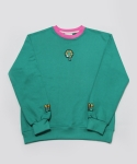 시그냅(SIGNAP) RE-CHILD EMBROIDERY SWEAT SHIRT CANDYGREEN