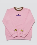 RE-CHILD EMBROIDERY SWEAT SHIRT LATTE PINK