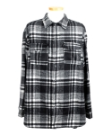 oversized flannel shirt[B]