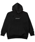 BOXY HOODY Un Caps Lock BLACK
