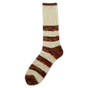 Slub M Stripe Sock Red