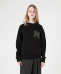 모한(MOHAN) [MOHAN] MOHAN APPLIQUE SWEATSHIRT BLACK