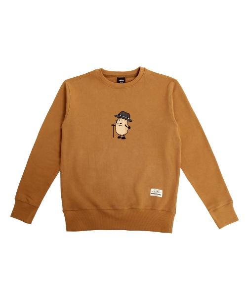 더 캔버스_Eggman pixel ver. Sweatshirts(Brown)