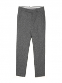 센트머리() TURN UP WIDE SLACKS_CHARCOAL GREY