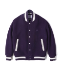 라이풀(liful) NS WOOL VARSITY JACKET purple